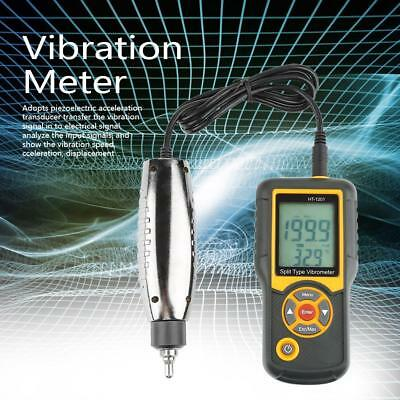 HT-1201 Digital Split Type Vibration Meter Tester Vibrometer Sensor Gauge Case