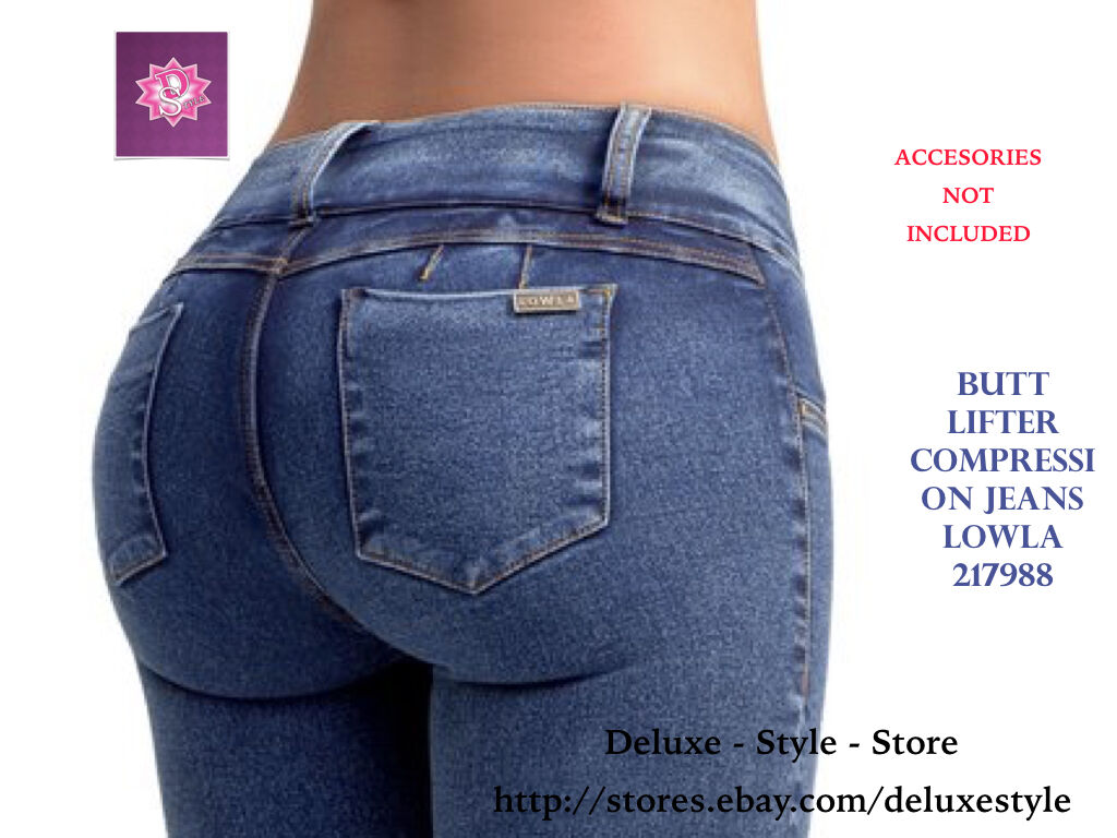 COLOMBIAN WOMEN'S BUTT ENHANCEMENT JEAN WITH PADS LOWLA-217988 ABD CONTROL SPDEX