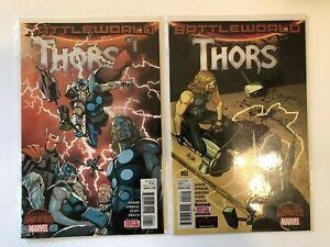 Lot-of-2-Thors-1-2-Marvel-Comics-2015