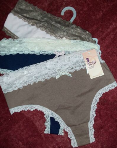 marine rose Mesdames 3 Pack soft touch seamfree thongs beige