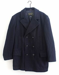 85845e641 Details about Gloverall Anchor Button Reefer Jacket Pea Coat Made In  England Size 42M