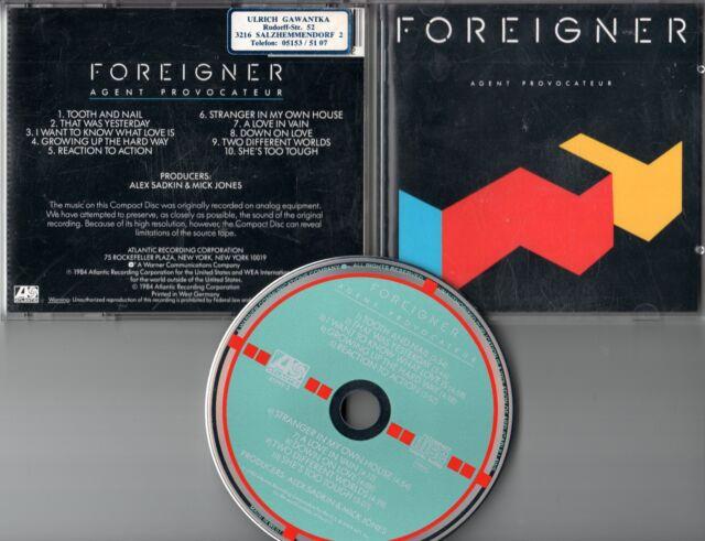 Foreigner  CD AGENT PROVOCATEUR  (c) 1984  TARGET