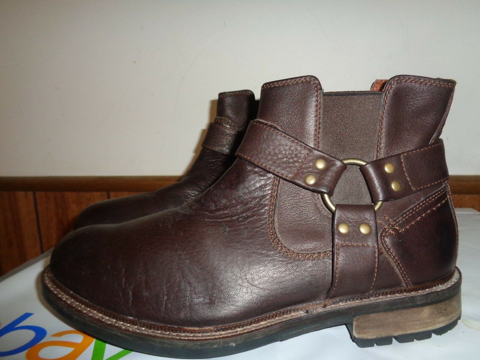 JOHNSTON & MURPHY  Uomo brown pelle boots size 8MAnkle