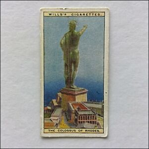 Wills-Wonders-Of-The-Past-37-The-Colossus-of-Rhodes-Cigarette-Card-CC12