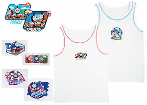 fe7fc0f5f8cc Kids Boys Toddlers Thomas The Tank Engine 2 Pack Vests Underwear ...
