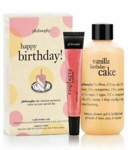 Terrific Philosophy Happy Birthday Set Vanilla Birthday Cake Raspberry Birthday Cards Printable Giouspongecafe Filternl