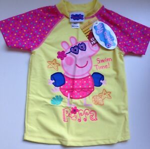 Cute-Peppa-Pig-Size-4-Swim-Bathing-Top-50-Protection-BNWT