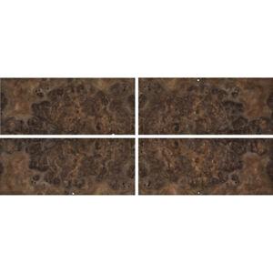 Exotic-Walnut-Burl-Wood-Veneer-Raw-Unbacked-4-pc-Pack-16-034-x-36-034-Total