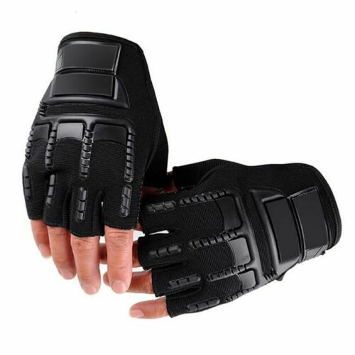 Outdoor Military Tactical Half Finger Gloves Army Hiking Work Fingerless USA
