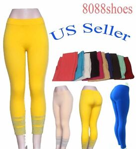 Women-039-s-Two-Style-Color-One-Size-Sexy-Slim-Stretch-Footless-Skinny-Leggings-NEW