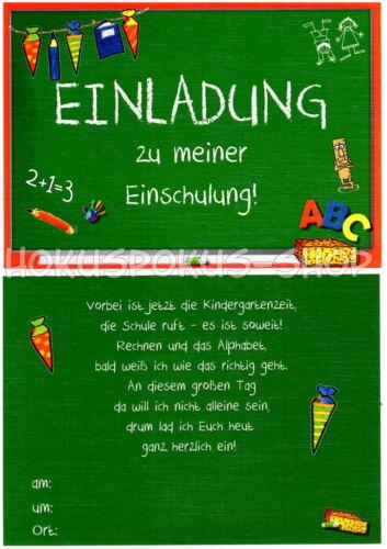 Schultag Einladung 8 Einladungskarten Einschulung Schulanfang 1