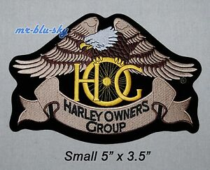 Small Silver Eagle Patch ~ Harley Davidson Owners Group HOG H.O.G.
