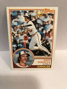 Details About 1983 Topps Baltimore Orioles Baseball Card 605 Gary Roenicke