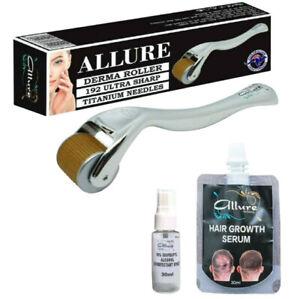 Derma Roller 1mm 540 Titanium Needles Face Skin Care Hair Loss Australian BRAND
