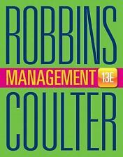 Management by Stephen P. Robbins Hardcover Book English 13th Edition
