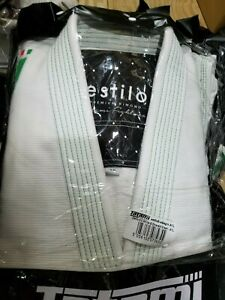 Tatami Estilo 6.0 Mens Brazilian Jiu Jitsu Gi Jiu-Jitsu BJJ - White & Emerald