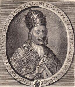 Portrait-XVIIIe-Benedetto-Odescalchi-Pape-Innocent-XI-Papa-Innocenzo-XI-1750