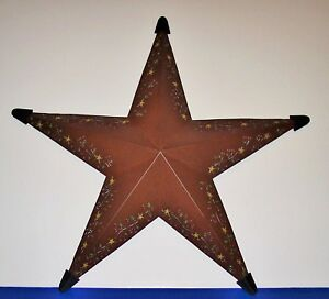 Details About Metal Indoor Outdoor Star Brown 18 Inch Country Farmhouse Wall Decor