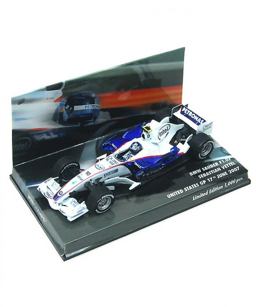 Nuovo Minichamps 1/43 BMW Sauber F1.07 Sebastian Vettel 2007 US GP  Limited  Japan