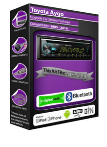 Toyota-Aygo-DAB-Radio-Pioneer-Autoradio-CD-USB-Auxiliaire-Lecteur-Bluetooth