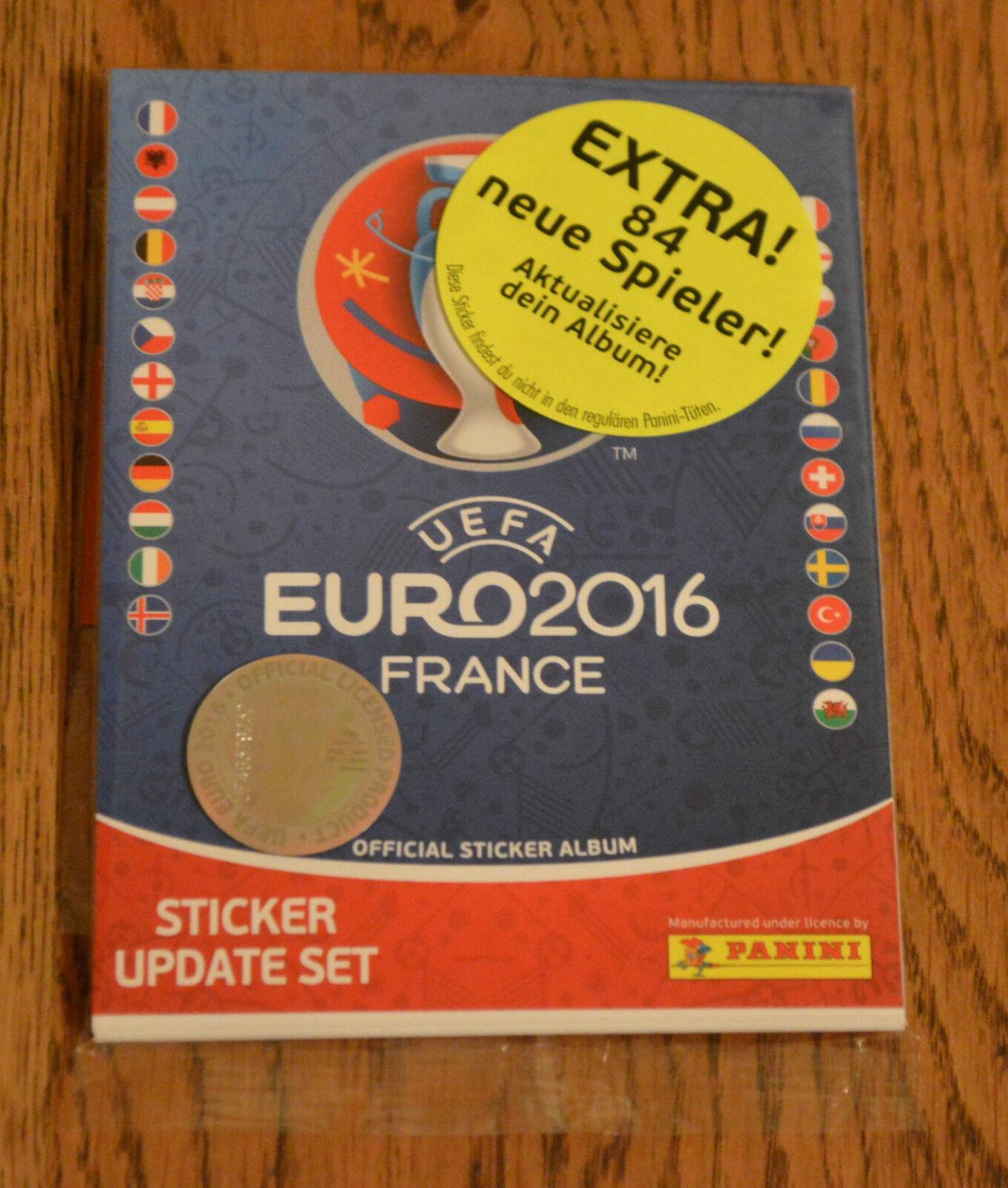 84 Update Sticker Nachnominierte OVP PANINI EM Euro 2016 France