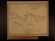 1844 BEAUTIFUL Huge Color MAP of Ancient Africa Libya Egypt Alexandria ATLAS