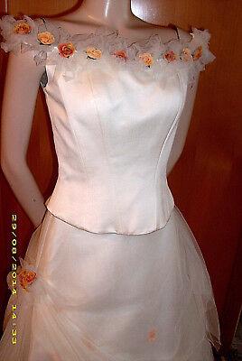 Weise! Neu! TÜll-blÜten Brautkleid In Ivory Gr. 36 Sehr Romantisch!