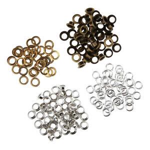 100-Set-Occhielli-in-Metallo-con-Rondelle-Accessori-in-Pelle-da-11mm-Misti
