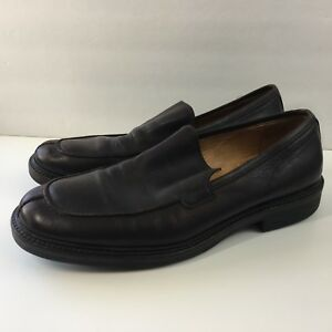 J. Crew Mens Brown Leather Split-Toe Slip On Loafers. Italy. Size 10.5