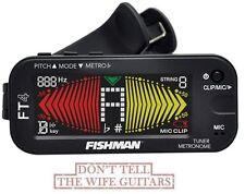 FISHMAN FT-4 Clip On Guitar Tuner & Metronome BIG LCD Display & MIC ACC-TUN-FT4