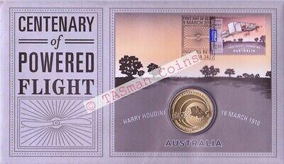 PNC Australia 2010 Centenary of Powered Flight Perth Mint $1 Commemorative Coin