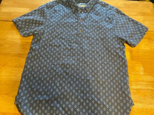 The Nutter Chubbies XL Blue Short Sleeve Popover P