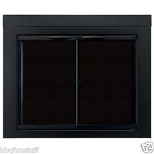 Pleasant Hearth Glass Fireplace Door Alpine Black Small AN-1010 Mesh Screens New