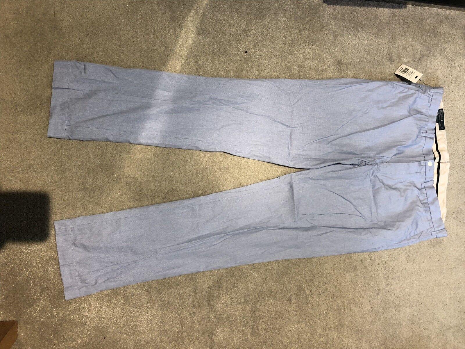BNWT ralph lauren slim fit bleu/blanc Pantalon Pantalon bleu/blanc 36/34 53de7a