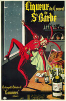 1920 Liquor Ste. Barbe Poster Ad 13 X 19 Photo Print