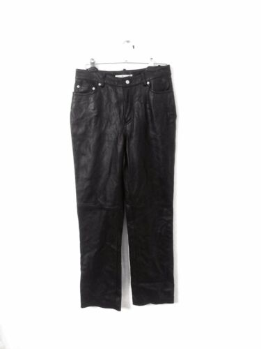 Tommy Hilfiger Woman's Leather Pants Size 10 Black
