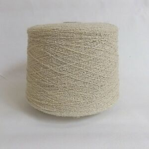 Texere DY352 200g Cotton Boucle 4 ply Knitting Yarn Cones Beige Natural Cream