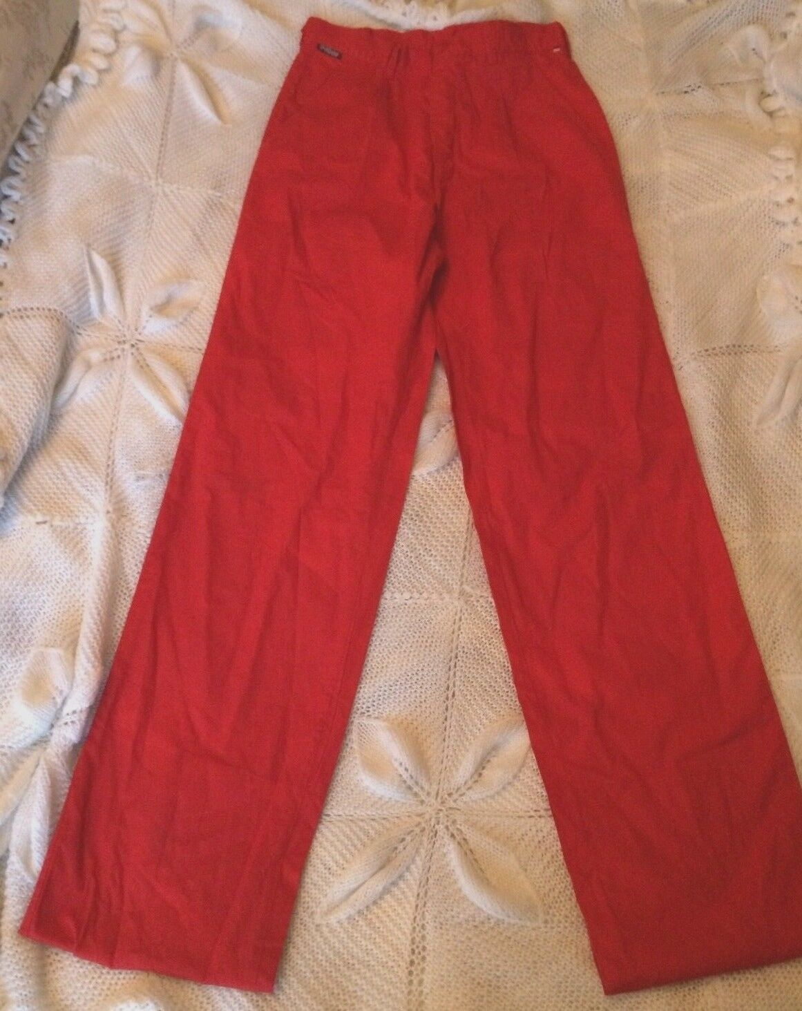 Ladies true vintage skinny leg high waist red trousers 4 6 petite