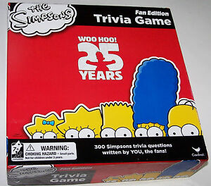 Details about  /1999 THE SIMPSONS TRIVIA GLOBAL FANFEST SET OF 6 PROMO TRIVIA CARDS HTF