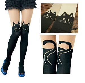 Sexy Women Cat Tail Gipsy Mock Knee High Hosiery Pantyhose