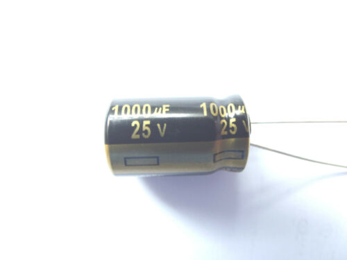 1000uf 25v 105c Low ESR Panasonic Size 20mmx12.5mm EEUFM1E102  Long Life x10pcs