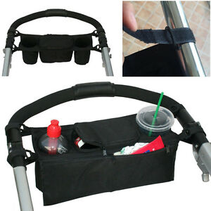 Baby STROLLER Organizer PARENT Console Double Cup Holder Buggy Jogger Portable^