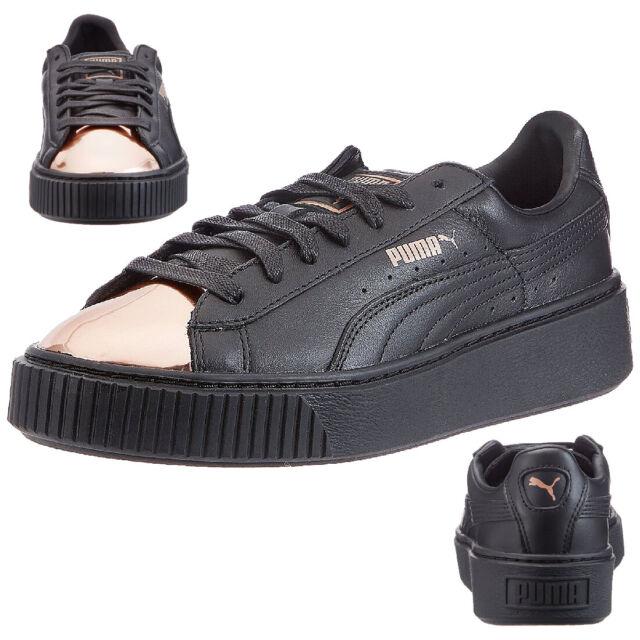 PUMA Basket Platform Metallic Damen Sneaker UK 6 EU 39