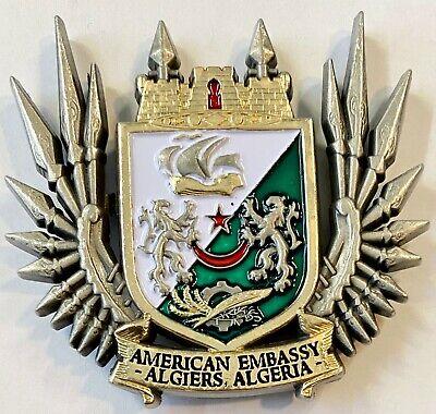 Algeria Challenge Coin USMC MSG Marine Security Guard Detachment Algiers
