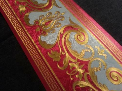 gold 5m lang 17,7 cm breit wunderschöne Barock rot