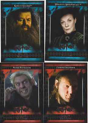 HARRY POTTER HEROES AND VILLAINS TRADING CARDS - 6 CARD LOT #5 6 26 29 40 54