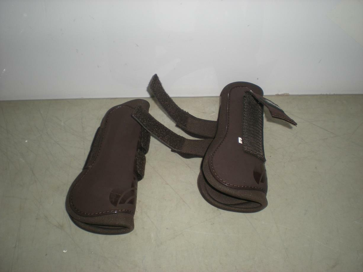 HorZe Pro  Tec Boots Brown COMES WITH ONLY 2 FRONT LEG BOOTS  high quality genuine