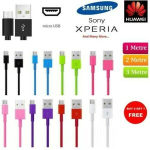 2M-3M-Micro-Cable-USB-Donnees-Chargeur-Pour-Samsung-Galaxy-S5-S6-S7-Bord-A6-A7