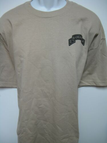 2ND RANGER BN T-SHIRT// MILITARY// front print only// ARMY// NEW