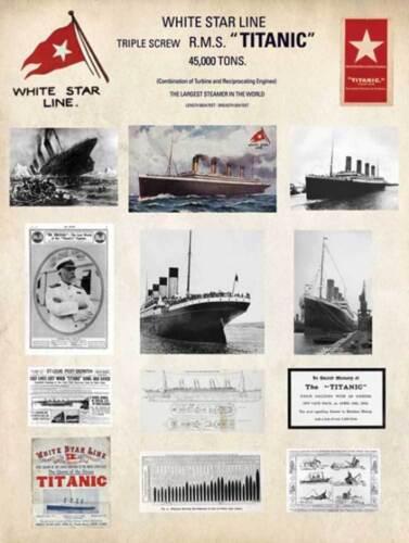 Schiffe Ships Film Movie Kino Kunstdruck 60x80 Collage Titanic